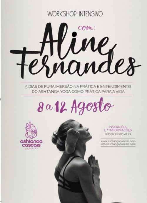 ASHTANGA YOGA WORKSHOP COM ALINE FERNANDES