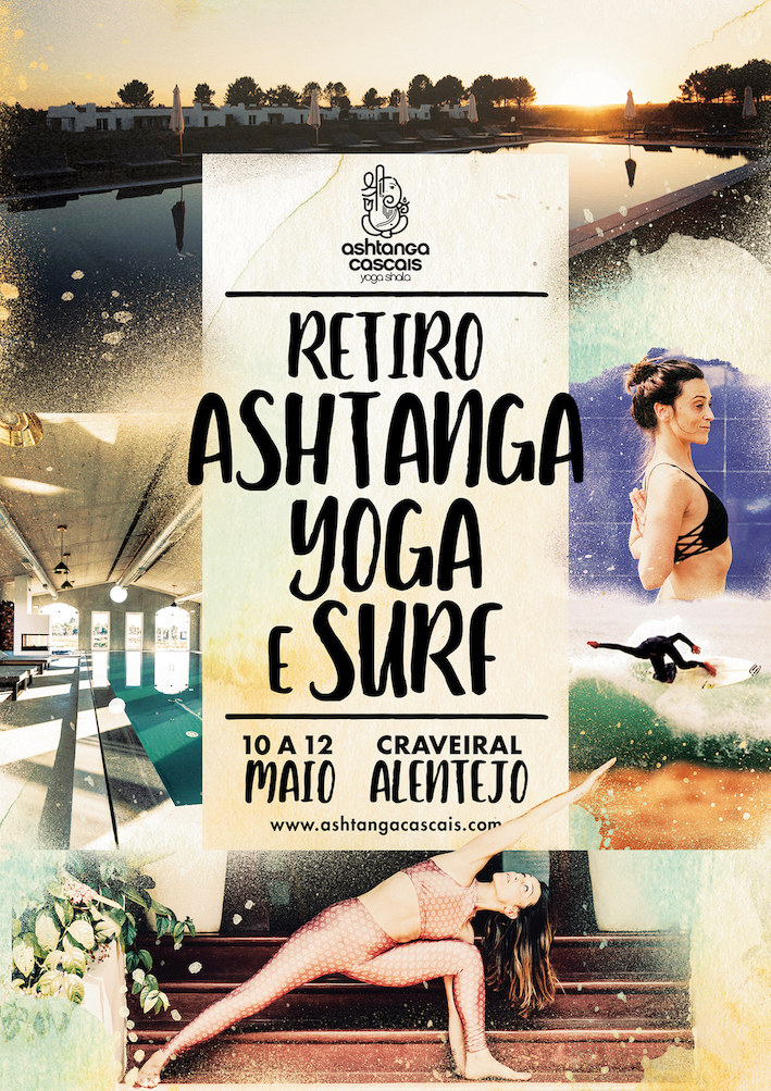 Retiro de Ashtanga Yoga & Surf, de 10 a 12 de Maio, no Craveiral, Alentejo