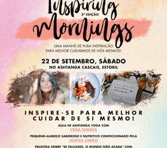 5ª Edição do Inspiring Mornings, 22 de Setembro, no Ashtanga Cascais, Estoril