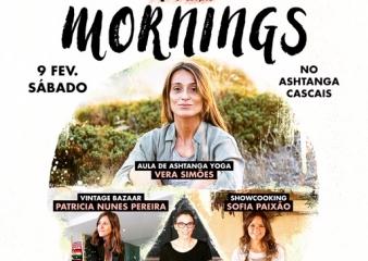 6ª edição do Inspiring Mornings, 9 de Fevereiro, no Ashtanga Cascais