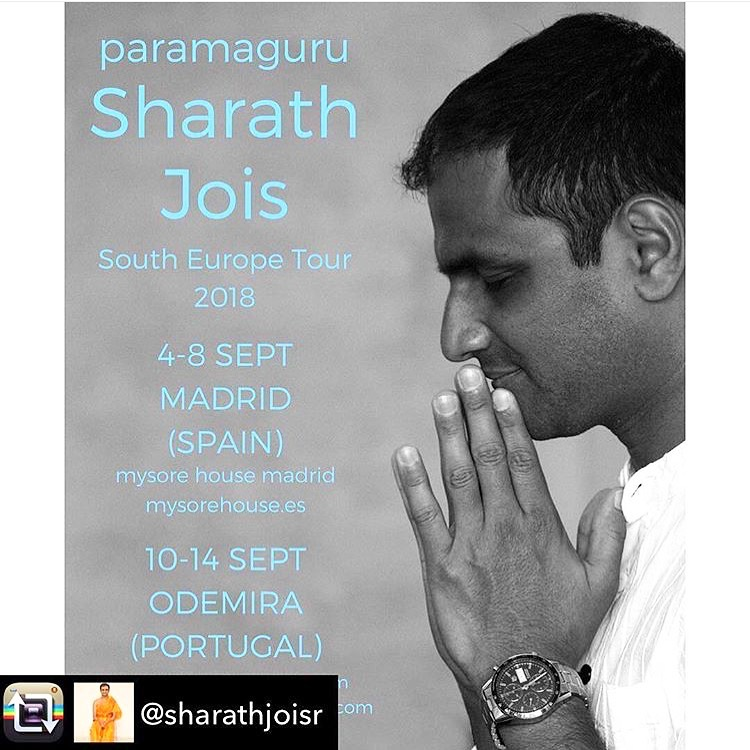 Sharath Jois in PORTUGAL AND SPAIN