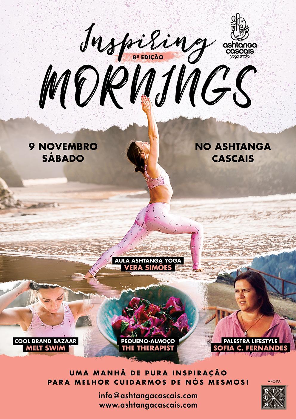 INSPIRING MORNINGS, 9 NOVEMBRO, NO ASHTANGA CASCAIS