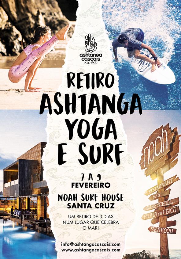 RETIRO ASHTANGA YOGA & SURF, 7 A 9 FEVEREIRO, NO NOAH SURF HOUSE, SANTA CRUZ
