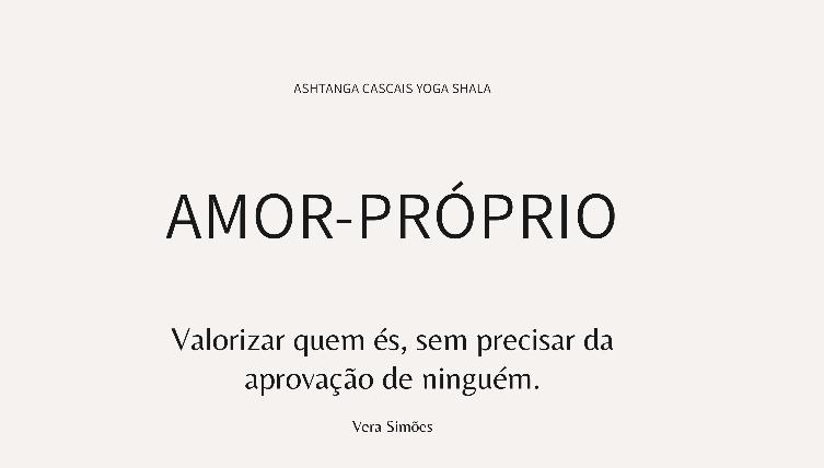 AMOR-PRÓPRIO