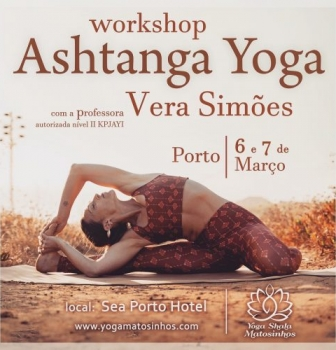 WORKSHOP ASHTANGA YOGA, 6 E 7 MARÇO, NO PORTO