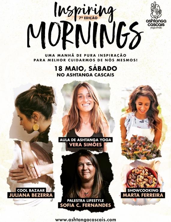 INSPIRING MORNINGS, 18 DE MAIO, NO ASHTANGA CASCAIS