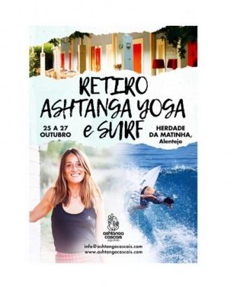 RETIRO ASHTANGA YOGA & SURF, 25 A 27 DE OUTUBRO, HERDADE DA MATINHA