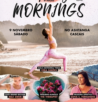 INSPIRING MORNINGS, 9 NOVEMBRO, NO ASHTANGA CASCAIS