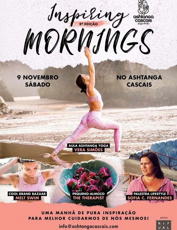 INSPIRING MORNINGS, 9 DE NOVEMBRO, NO ASHTANGA CASCAIS